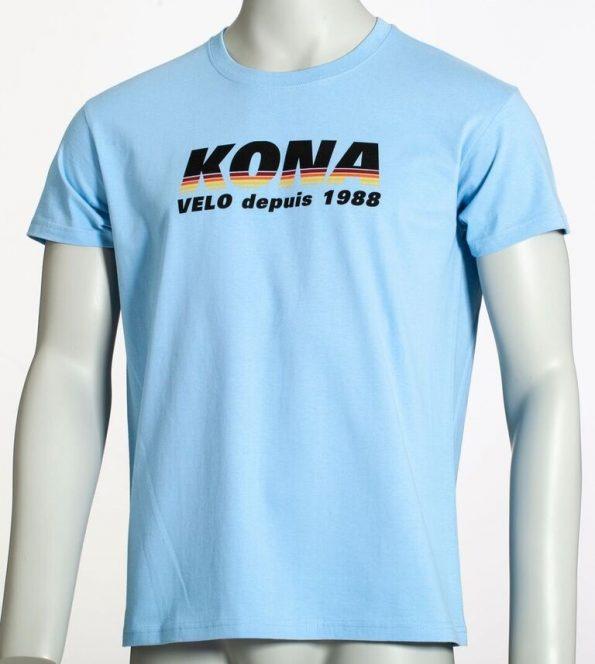 T-Shirt Velo Depuis 1988 Bleu Kona