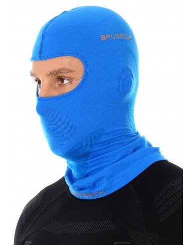 Brubeck - cagoule thermique unisexe Merinos bleue homme