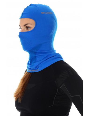 Brubeck - cagoule thermique unisexe Merinos bleue femme