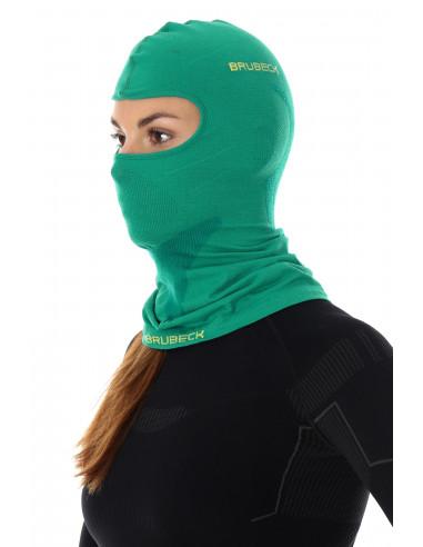 Brubeck - cagoule thermique unisexe Merinos verte femme