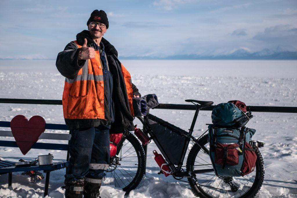 Gaëlle Bojko bikepacking Lac Baïkal